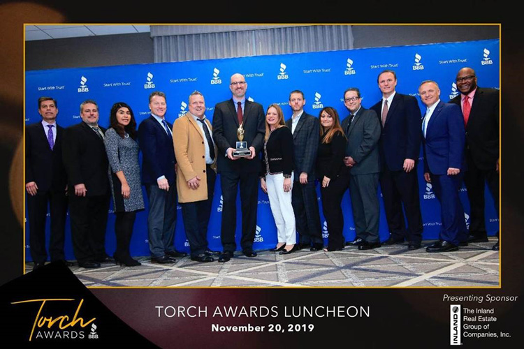 Better Business Bureau 2019 Torch Award for Marketplace Ethics
